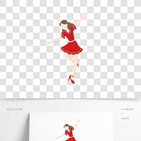 紅衣服拉丁女孩PNG