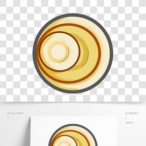 漂亮的餐盤手繪插畫