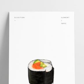 食物日本料理紫菜飯團金槍魚黃瓜大米壽司PNG圖
