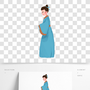 藍色衣服的牛郎免摳圖