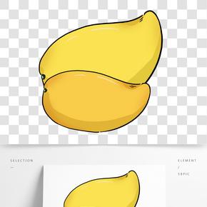 手繪水果芒果插畫