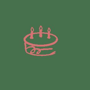 手绘蛋糕通用词简笔画生日蛋糕