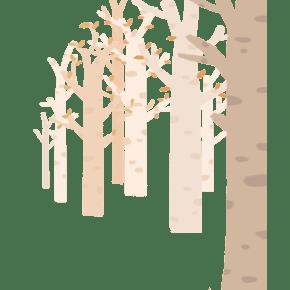 手绘卡通森林免抠图