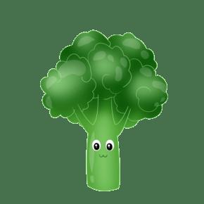手绘蔬菜西蓝花插画