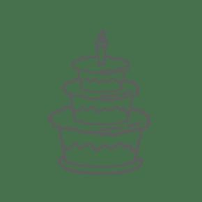 蛋糕通用词生日蛋糕简笔画