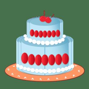 卡通扁平风生日蛋糕
