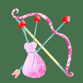 手绘丘比特之箭插画
