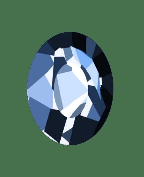 手绘蓝色宝石插画
