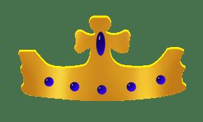 手绘蓝色皇冠插画