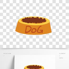 貓狗寵物用品元素矢量素材圖片