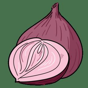 创意紫色洋葱插画