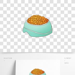 卡通貓糧動物插畫