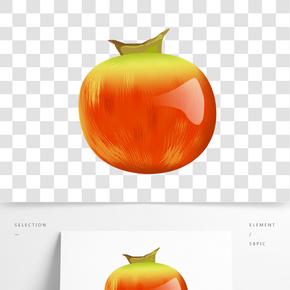 紅石榴水果卡通插畫