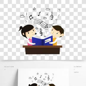 音樂課小朋友學習音樂樂譜