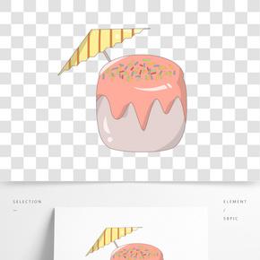 水果面包零食插畫