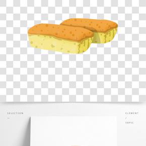 零食面包甜點插畫