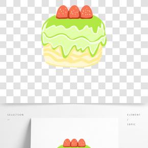 夾心蛋糕美食插畫