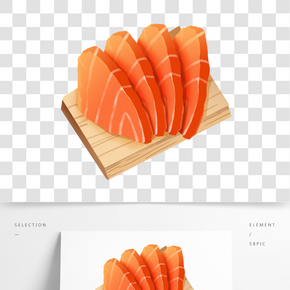日本生魚片和食素材元素