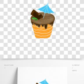 漂亮蛋糕甜品插畫