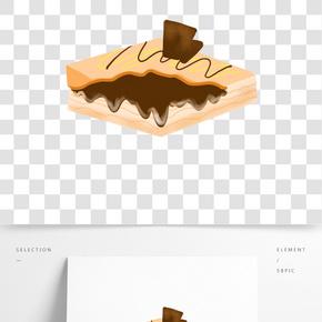 松軟蛋糕甜品插畫