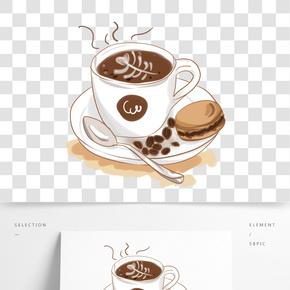 熱咖啡飲品白色瓷杯精致杯子PNG
