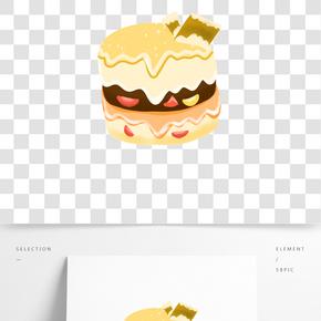 多層蛋糕卡通插畫