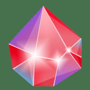 红色渐变的钻石插画