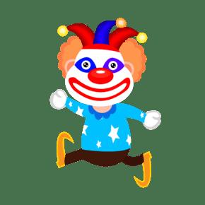 卡通免扣小丑人物