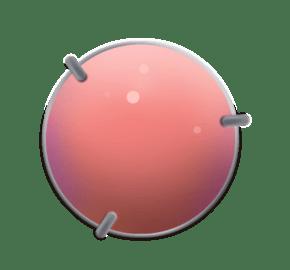 粉红色的圆形宝石插画