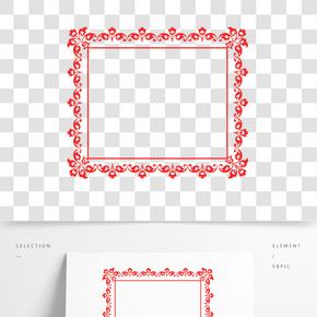 花朵正方形創意圖框