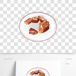 巧克力甜點糕點插圖