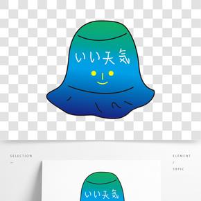 一顶蓝色的卡通休闲帽