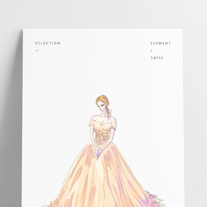婚紗女士用品插畫