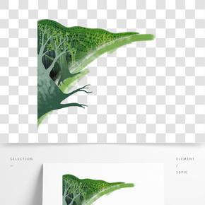 綠色植物手繪免扣元素