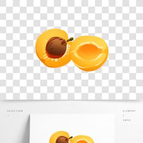 美味的水果杏插畫
