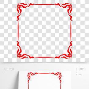 紅色中國傳統風邊框