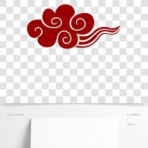 紅色祥云紋傳統紋樣