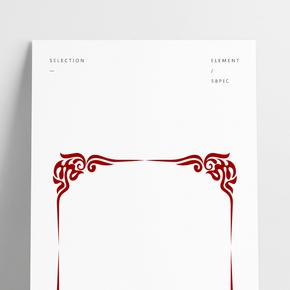 紅色中國風傳統邊框裝飾