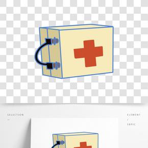 紅十字醫療箱插畫