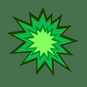 矢量绿色爆炸对话框