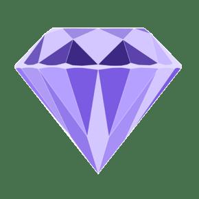钻石卡通扁平风矢量图案装饰紫色情人节情侣恋人