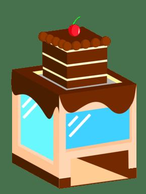 巧克力蛋糕2.5D建筑