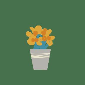 卡通新鲜的盆栽免抠图