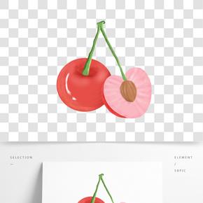 新鮮水果櫻桃插畫