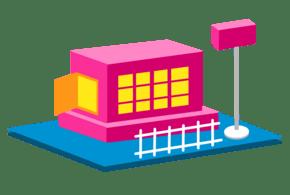 2.5D建筑邮箱栅栏