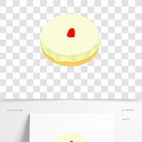 松軟蛋糕卡通插畫