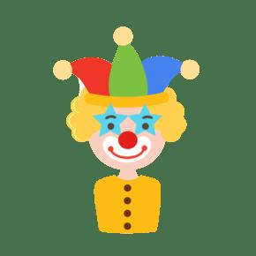 卡通诙谐愚人节小丑元素