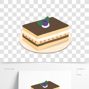 藍莓巧克力蛋糕插畫