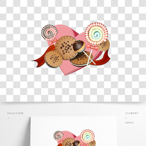 C4D零食情人節棒棒糖餅干