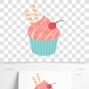 美味可口的蛋糕插畫